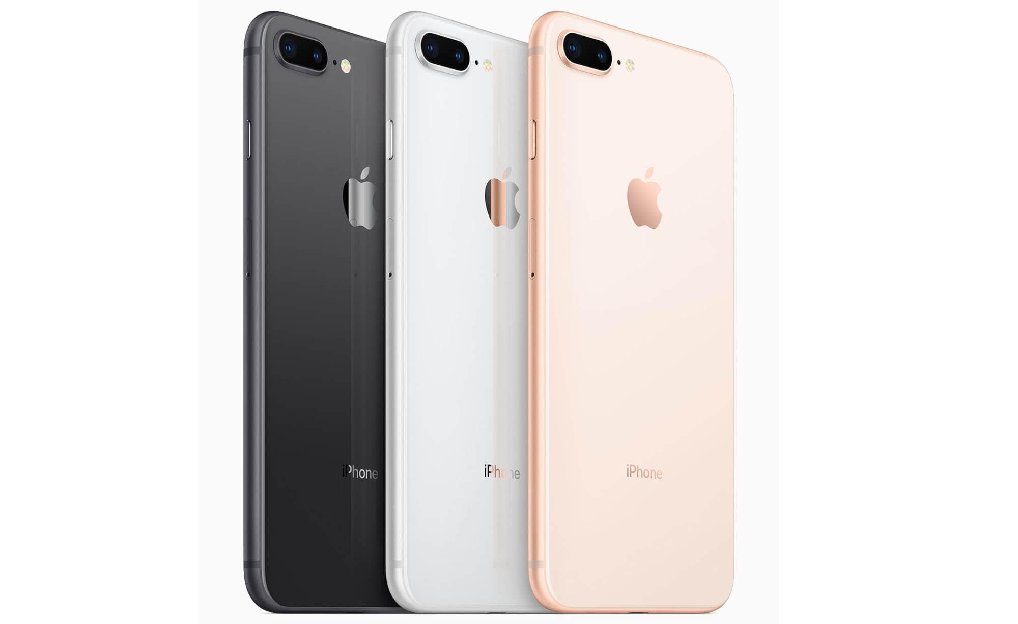 Цвета смартфона iPhone 8
